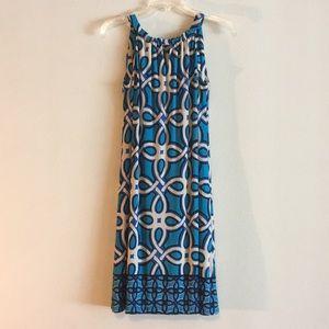 Taylor Sleeveless Stretchy Blue Sundress